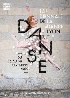 Poster Danse Lyon #creative #balloons #dance #black #poster