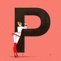Chicks & Types Calendar by Simone Massoni #illustration #calendar #italy #typography