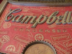Logos Created from Corrugated Cardboard - 1-800-Recycling #soup #campbells #recreated #recycling #logo