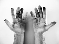 27 letters, designed by Giuseppe Salerno and Paco González #white #grunge #hands #photo #black #painter #and #dirty