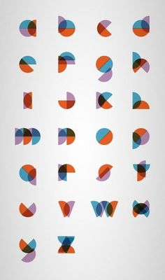 Minimal Type Design by Philippe Cossette   WE AND THE COLOR