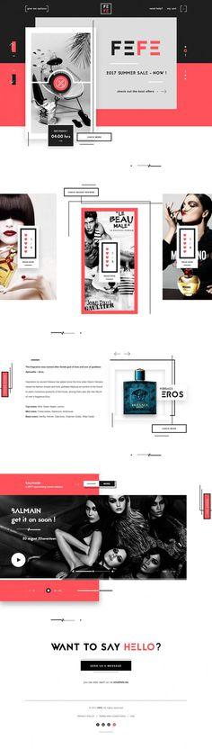 FEFE – Perfume shop landing page by Robert Berki