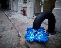 Pixel Pour 2.0: Digital Water Stuck in Mid-Spill   WebUrbanist
