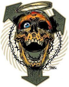 Racecar 13 | TannerGoldbeck #illustration #skull #racecar 13 #tanner goldbeck