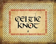 Celtic Knot Calligraphy Border #calligraphy #knot #celtic #border #steveczajka