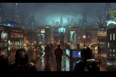 Long Journey Ahead by merl1ncz on deviantART #futuristic #cityscape
