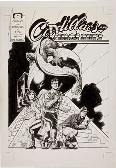 Mark Schultz - Cadillacs & Dinosaurs #4 Cover (1990), in Gene Park's Schultz, Mark (Xenozoic/Cadillacs) Comic Art Gallery Room