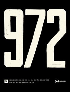 Area Code Project — Posters #poster #typography