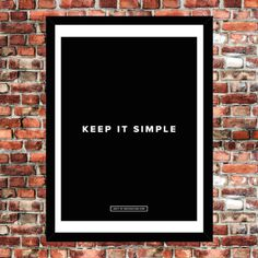 Keep It Simple Poster #tech #flow #gadget #gift #ideas #cool