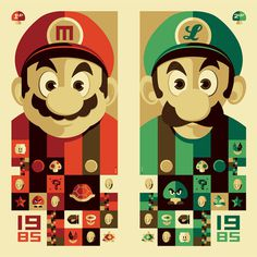 tom whalen : strongstuff illustration + design #luigi #mario #whalen #tom