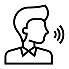 See more icon inspiration related to speaker, command, audio, user, sound, voice command, ui, multimedia option, electronics, voice, microphone, volume, interface, avatar, multimedia, people and technology on Flaticon.
