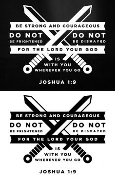 Dribbble - joshua19.jpg by Matt Scribner #strength #scripture #design #gospel #lord #bible #swords