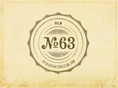 Dribbble - Personal Novelty Logo by Patrick Carter #numbers #logo #badge