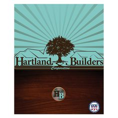 Hartland Builders Wood Grain Presentation Folder #wood #grain #construction #folder #builders #presentation #folders