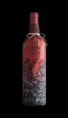 Beautiful wine bottle packaging