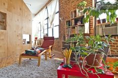 A Cabin in a Loft : asmallspace.com #interiors #plants
