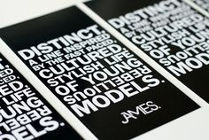 Jag Nagra is Page 84 Design #white #models #bold #black #james #fashion #typography
