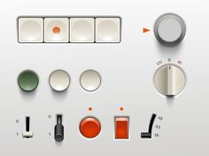 Braun ui #braun #red #green #gray #rams #dieter #ui