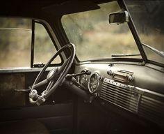 RUSTTEE #vintage #photography #interior #car #automobile #chevrolet #wheel #chevy