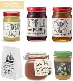 One Good Thing: Jamie Oliver Jme Food Packaging - Home - Creature Comforts - daily inspiration, style, diy projects + freebies #packaging #design