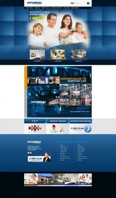 Portal Web Corporativo / Hyundai Electronics #pereira #exusmultimedia #herduin #exus #design #black #webdesign #colombia #blue #web