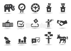 Political Icons Royalty Free Stock Vector Art Illustration