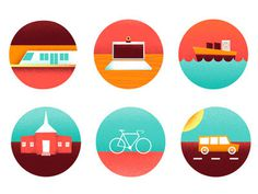 Icons #illustration #color #icons