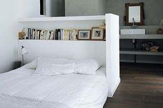 FFFFOUND! | HELLO TIGER! - design, inredning, hantverk och gör det själv-idéer: Vintersömn Winter sleep #interior #white #design #bedroom #book #wood #bed #shelf