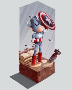 Captain America #bullets #america #shield #captain
