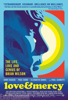 Love and Mercy movie poster (a Brian Wilson biopic) #brianwilson #surf #retro #wave #vintage #poster #beachboys