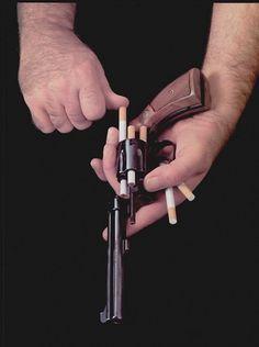 Colossal | art + design #photography #guns #cigarettes