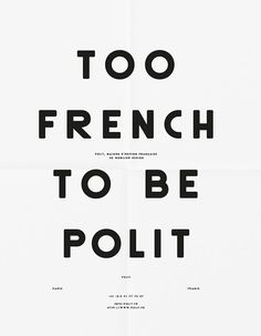 Too french To Be Polit #quote
