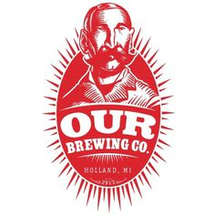 Our Brewing Co. Logo #beer #red #illustration #portrait #brewing #logo #our