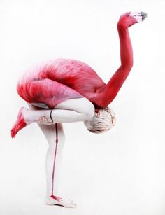 funny-body-painting-art-flamingo.jpg (500×651) #flamingo #dance