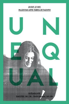 UNEQUAL on Behance #green #fashiom #poster #mint