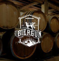 Biergun Brewery Logo #logo design #identity #branding #graphic design #retro #vintage