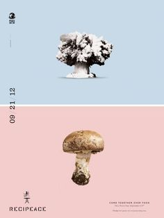 Recipeace: Mushroom cloud #print #greenpeace #poster