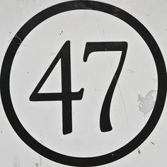 All sizes | 47 | Flickr - Photo Sharing! #lettering #number #typography
