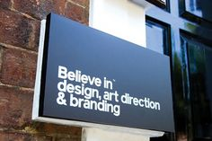 Believe in | Identity Designed #identity #white #silver #black #sign #signage #believe in