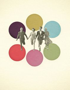 Young Love #graphic #retro #collage #circles