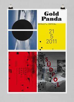 Gold Panda #feixen #design #graphic #pfffli #poster #felix