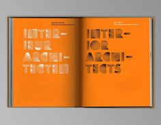 LESLEY MOORE - PAST {DUTCH_ARCHITECTS_09} #typography