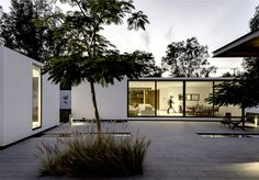 Mexican Weekend Villa with Minimalistic Decorated Small Garden