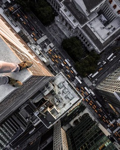 Daredevil Building Climber: Roooftop Photography by Andrej Ciesielski