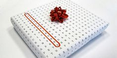 gift-wrapping-ideas-crossword-paper-3.jpg 640×320 Pixel #packaging #wrap #christmas #gift #typography