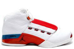 "Nike Jordan 17 Men Original (og) ""Varsity Red"" & Charcoal/White - Release #shoes"