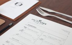 foundry co via www.mr cup.com #logo #menu #collateral #restaurant