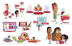 Dribbble - red_illustrations.jpg by Christopher Lee #illustration #characters #target