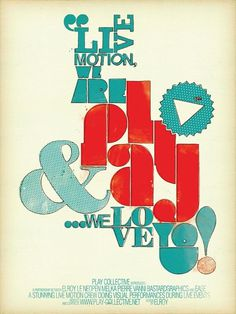 Typography Poster Design by Damien Vignaux - WE AND THE COLOR #typography