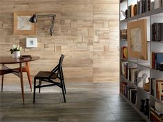 Porcelain Stoneware Wall Tiles with Wood Effect